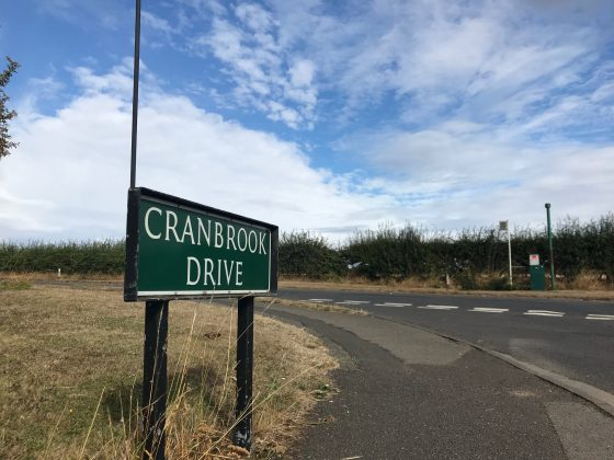 Cranbrook Drive sign Maidenhead where many properties are for sale with Kirkwood Personal Estate Agents